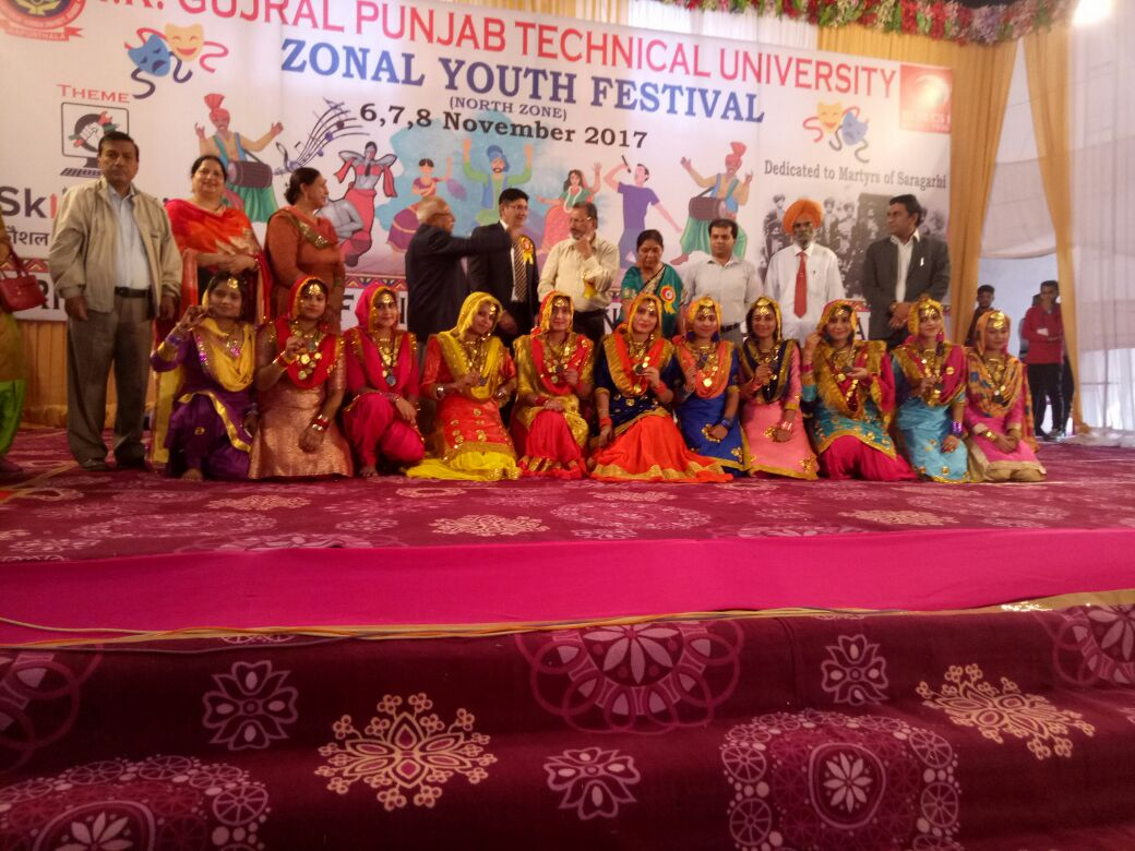 IKGPTU Amritsar Campus students achieved various positions in Inter Zonal Youth Festival